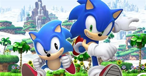 Classic Sonic the Hedgehog meets modern Sonic in new ...