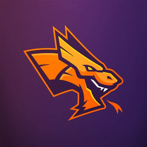 evaneckard dragonz mascot logo  time sale