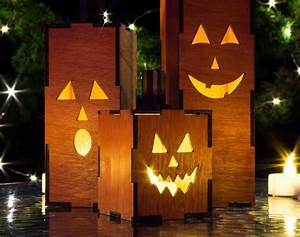 Wood, Lantern, U2013, Halloween, Decor, Outdoor
