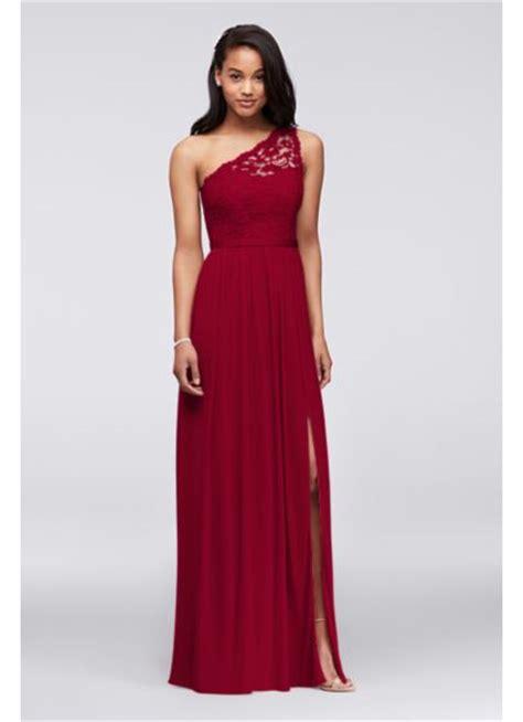 davids bridal bridesmaid dress colors one shoulder lace bridesmaid dress davids bridal