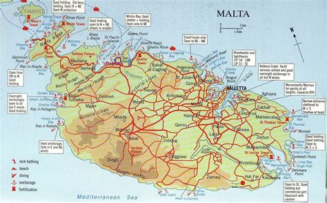 large road map  south malta south malta large road map