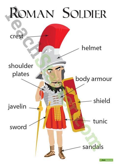 roman soldier  labels worksheet teaching resource