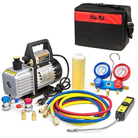 xtremepowerus cfm air vacuum pump hvac ac refrigeration