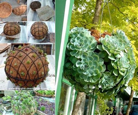 diy hanging succulent sphere    amazing diy