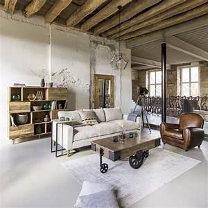 Canapé Maison Du Monde Gris : canap 4 places en velours c tel gris clair holden maisons du monde ~ Dallasstarsshop.com Idées de Décoration
