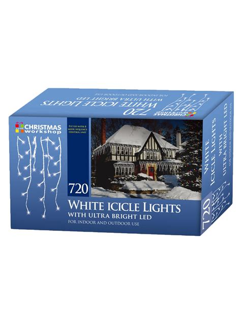Icicle Chaser Lights Bright White Christmas Party Outdoor