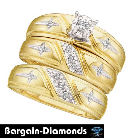 wedding ring sets with crosses cross 3 ring 14k gold bridal engagement wedding band christian groom ebay