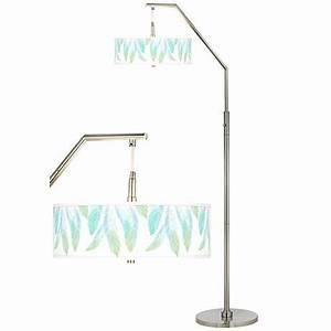 light as a feather giclee shade arc floor lamp h5361 With floor lamp with feather shade