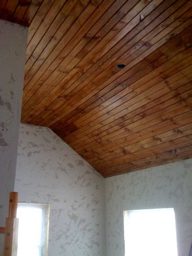 wood ceiling    install tongue groove paneling