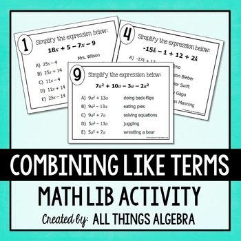 algebra tiles worksheet combining like terms algebra tiles bining like terms worksheet chic