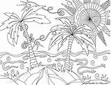 Doodle Alley Coloring Beach Pages sketch template