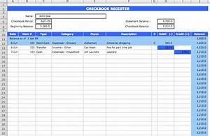 Checkbook register template microsoft excel templates for Microsoft excel check register template