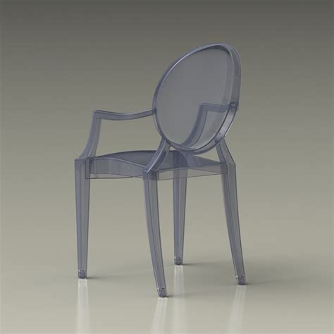 chaise kartel 3d ghost chair kartell high quality 3d models