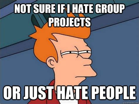Group Project Memes - futurama fry meme quot not sure if i hate group projects or just hate funny stuff pinterest