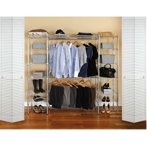 Closet Hangers by Total Closet Organizer Storage Wire Shelving Shoes Rack