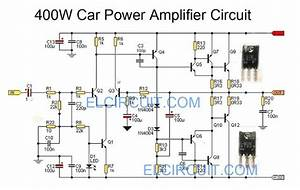 Car Power Amplifier Circuit Using C5100    A1908  Com