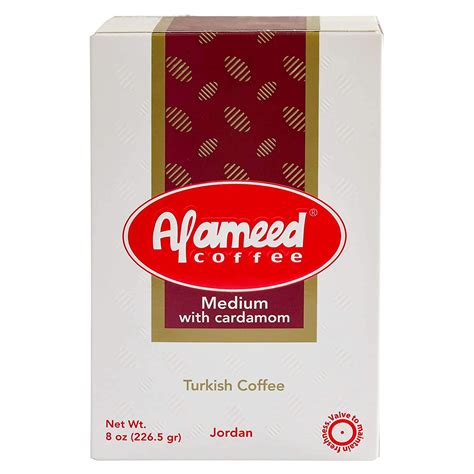 The traditional turkish coffee that is enjoyed in palestine and throughout the middle east and beyond. Al Ameed Gourmet Turkish Ground Coffee Medium Roast With Cardamom - Munaty