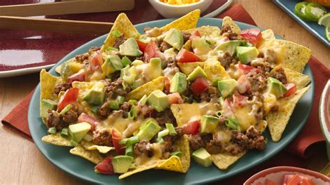 easy beef nachos recipe bettycrockercom