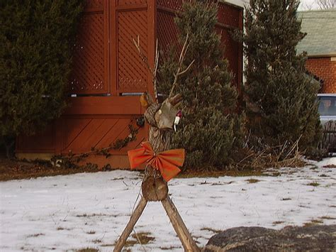 wooden reindeer lawn ornament flickr photo sharing