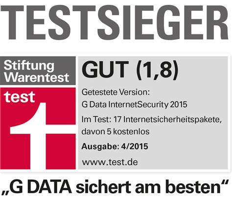 Stiftung Warentest by Stiftung Warentest G Data Security Test Winner Again