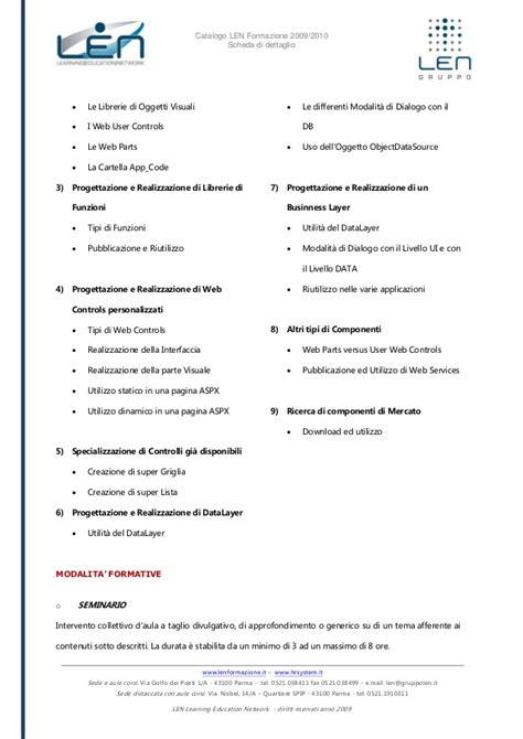librerie dll programmazione per componenti framework 2 0 scheda corso len