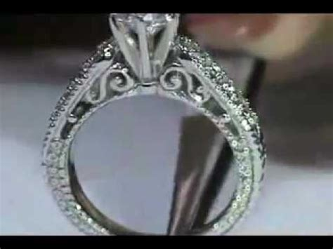 wedding rings nyc jewelers es320 filigree engagement ring by mdc diamonds new york engagement rings youtube
