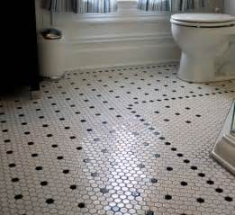 black and white hexagon bathroom floor tile design flooring ideas floor design trends