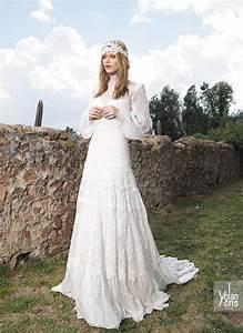 top 20 bohemian wedding dress designers one boho street With boho wedding dress designers