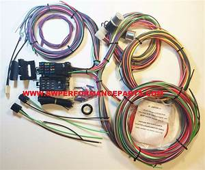 New Ez Wiring 12 Circut Mini Fuse Wiring Harness Chevy Mopar Ford Hotrod Xl Wire
