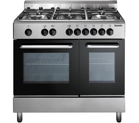 stoves dual fuel range cooker buy baumatic bc392 2tcss dual fuel range cooker stainless steel free delivery currys
