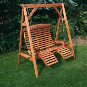 wooden garden luxury comfort swing seat ebay