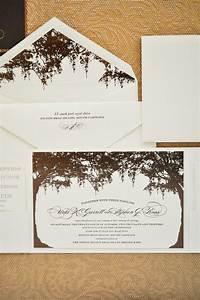 low country bronze wedding invitations custom wedding With spanish moss wedding invitations