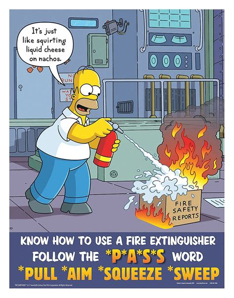 SAFETYPOSTER.COM Simpsons Safety Poster, English, 17 in x ...