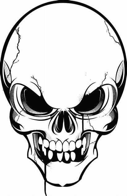 Skull Angry Clipart Drawing