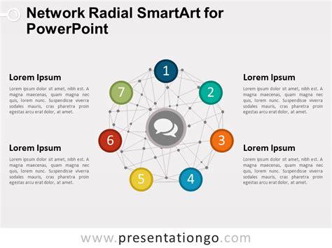 network radial smartart  powerpoint presentationgocom
