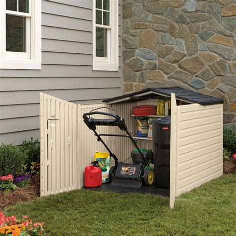 Rubbermaid Garden Tool Shed by Outdoor Horizontal Storage Sheds Quality Plastic Sheds