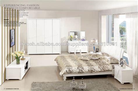 rideaux de chambre adulte chambre à coucher moderne blanc ensemble de meubles