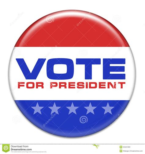 President Vote Button