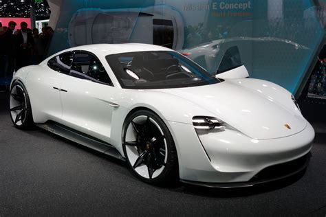 first porsche car porsche announced it wants half of its cars to be electric