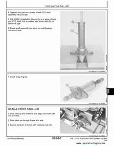 John Deere 420 Garden Tractor Parts Manual