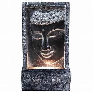 Alpine Buddha Wall Fountain with Light-ZEN204 - The Home Depot