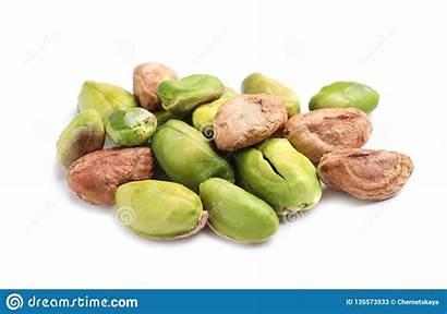 Pistachio Nuts Organic Peeled Heap Mucchio Gepelde