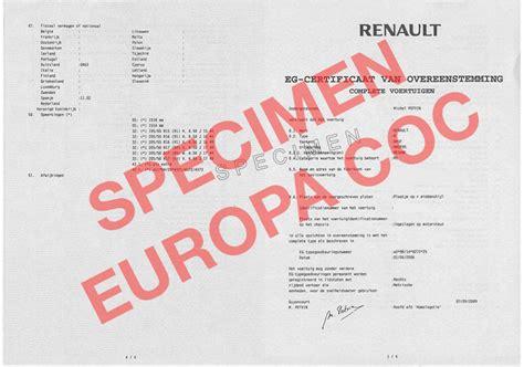 demande de certificat de conformite renault cocautomoto