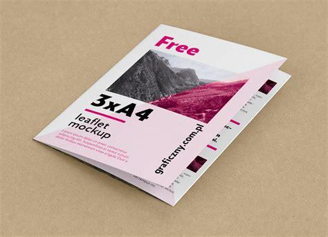 A4 Bifold Brochure Mockup Free Tri Fold A4 Brochure Mockup Psd Mockups