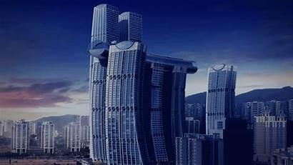 Skyscraper Overcrowding Horizontal Dormakaba