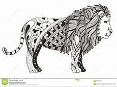 Lion Zentangle Stylized, Vector, Illustration, Freehand