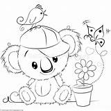 Koala Coloring Cute Pages Disegni Colouring Para Da Colorare Animal Disney Sheets Getcoloringpages Colorir Riscos Doodle Cartoon Pintura Em Immagini sketch template