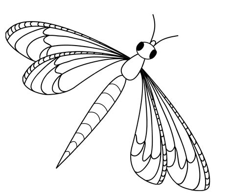Dragonfly Coloring Pages Kidsuki