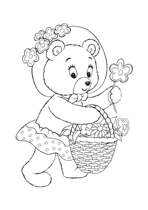 Kleurplaat Moederdag Teddybeer by Coloriage Ourson Fille Sur Hugolescargot