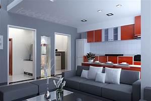 Idee Deco Photo : idee deco salon design gris ~ Preciouscoupons.com Idées de Décoration